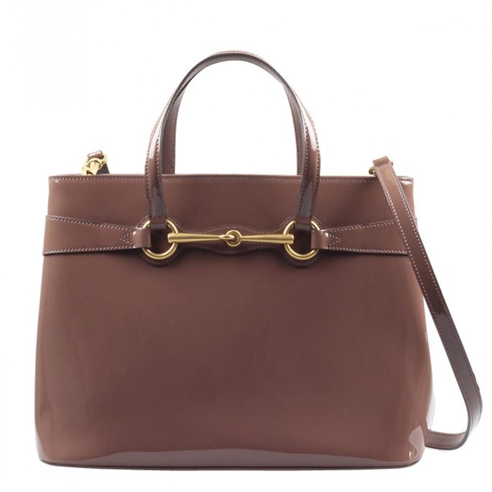 7d1757369c4 Gucci Patent Leather Horsebit Gold Hardware Patent Structured Satchel in  Pink Image 0 ...
