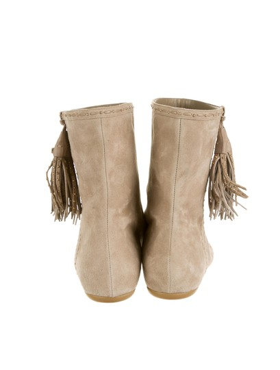 Dior Suede Ankle Tassle Tan Boots
