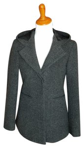 Express #peacoat #singlebreasted Charcoal Gray Jacket