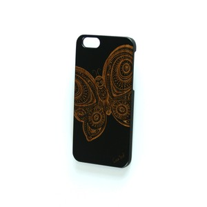 Case Yard NEW Cherry Wood Black iPhone Case with Butterfly Design, iPhone 7+