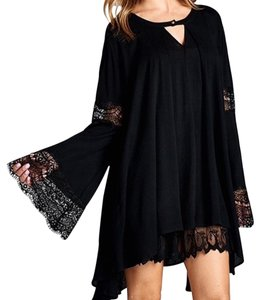Southern Girl Fashion Bohemian Festival Classic Cape Fall Winter Spring High Low Lace Classic Gauze Tunic