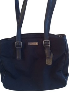 Coach Microfiber Tote in Black