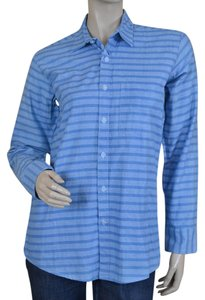 Steven Alan Oxford Stripes Button Down Shirt Blue