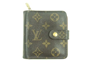Louis Vuitton Zippy Compact Monogram Canvas Leather Bifold Wallet Frrance