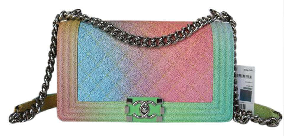cb2de2976e8c Chanel Classic Flap Boy Rainbow Medium 2017 Cuba Cruise Multicolor ...