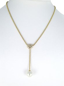 Chopard CHOPARD 18KT YELLOW GOLD NECKLACE 13 DIAMONDS 0.52 CARAT PEARL