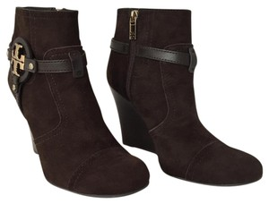 Tory Burch Suede Wedge Bootie Boots