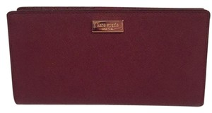 Kate Spade Nwt Kate Spade NY Stacy Burgundy Saffiano Leather Slim Bifold Wallet
