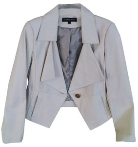 Andrew Marc Cream Leather Jacket