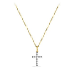 David Yurman Dimonds Gold Cross