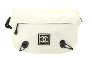 Chanel Sport Canvas White Messenger Bag