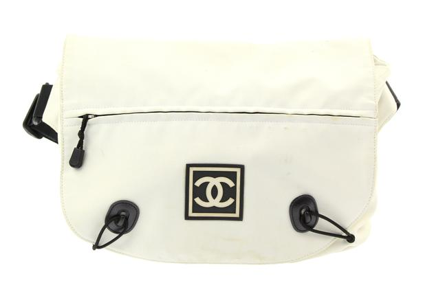 Item - Waist Extra Large Sport White Canvas Messenger Bag