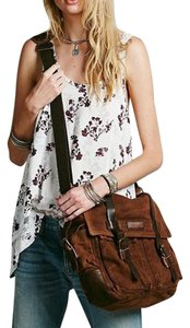 Free People Brown Multi Messenger Bag