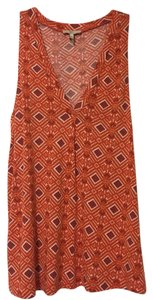 Joie Patterned Abstract Orange Top