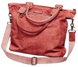 Free People Bed Stu Cascade Leather Tote Distressed Wash Crossbody Convertible Book Red Messenger Bag