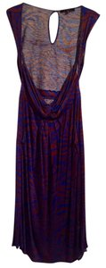 T-Bags Los Angeles short dress Blue, brown on Tradesy