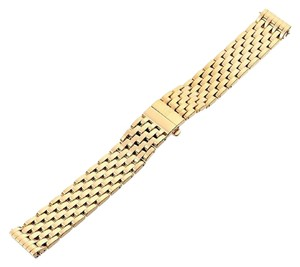 Michele Michele Deco 18mm Gold Plated Bracelet Watchband
