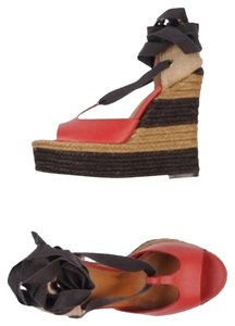 Fendi Red/Black/Brown Sandals