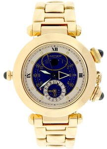 Cartier Cartier Pasha 18K Gold Alarm Moon Phase Blue Dial 38mm Watch 30011