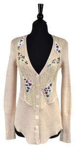 Free People Lace Sequin Knit Casual Cardigan