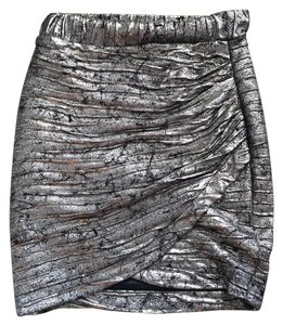 ASTR Mini Skirt Pewter black gray silver