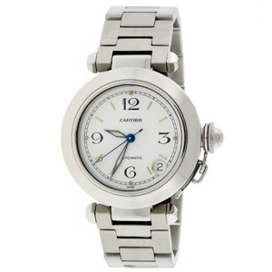 Cartier Cartier Pasha 35mm White Arabic Dial Automatic Stainless W31074M7