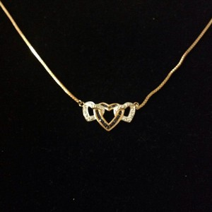 925 necklace jewelry Triple-heart pendant
