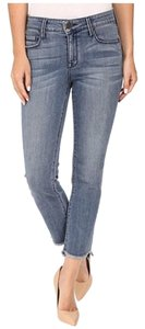 Parker Smith Frayed Straight Crop Skinny Jeans-Medium Wash