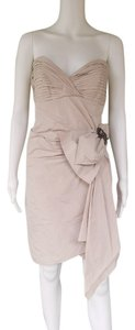 BCBGMAXAZRIA Strapless Taffeta Pin Boned Dress