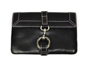 Marc Jacobs Leather Suede Heavy Black Clutch