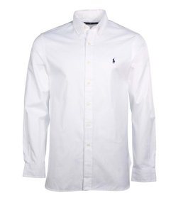 Polo Ralph Lauren Logo Cotton Button Down Shirt WHITE