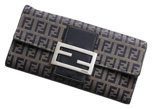 Fendi Fendi Zucca Canvas and Leather Bifold Wallet