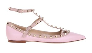 Valentino Leather Rockstud Rockstud Rockstud Caged Caged Light Pink 38(EU) NWT Flats