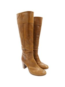 Sigerson Morrison Leather Tall Tan Boots