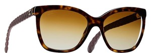 Chanel 5288 Q Butterfly Cat eye CC Logo Quilted Goatskin Polarized Oversized