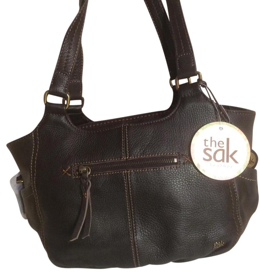 be08e2f25590 The Sak Leather 105854 Shoulder Kendra Satchel in Dark Brown Image 0 ...