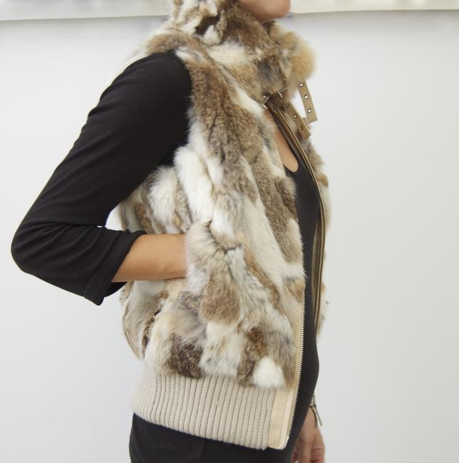 Arden B. Fur Real Fur Rabbit Fur Fur Fur Fur Leather Vest