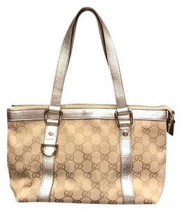 Gucci Satchel in Cream/brown