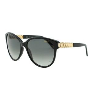 Chopard NEW Chopard SCH 150S Women Black Cat Eye Golden Chain Sunglasses
