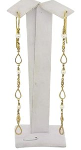 Tiffany & Co. TIFFANY & CO. IRIDESSE 18K YELLOW GOLD DIAMOND PEARL DANGLE EARRINGS