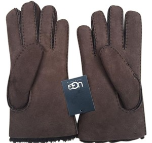 UGG Australia NWT UGGS Mens Brown Shearling Lined Winter Gloves Size M