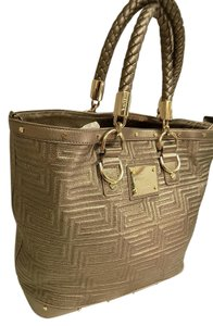 Versace Gianni Couture Tote in Metallic Taupe