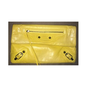Balenciaga Yellow Clutch