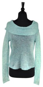 Anthropologie Mohair Knit Sheer Cowl Neck Sweater