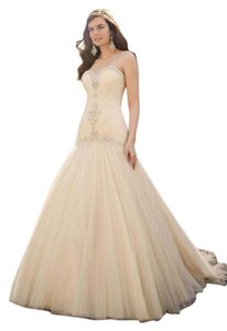 Essense of Australia Ivory Tulle D1912dmzp Formal Wedding Dress Size 18 (XL, Plus 0x)