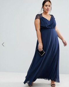 ASOS Navy Asos Curve 800219 Dress