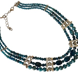 Carolyn Pollack Midnight Apatite Statement Necklace