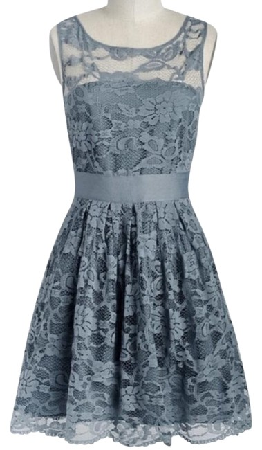 Item - Called Smoke(Its A Blue/Grey Color) Knee Length Formal Dress Size 6 (S)