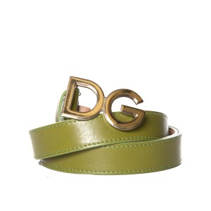 Dolce&Gabbana Dolce & Gabbana Green Leather Belt
