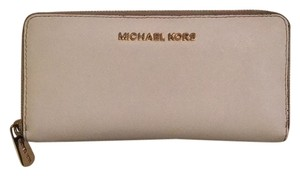 Michael Kors White Canvas Wallet